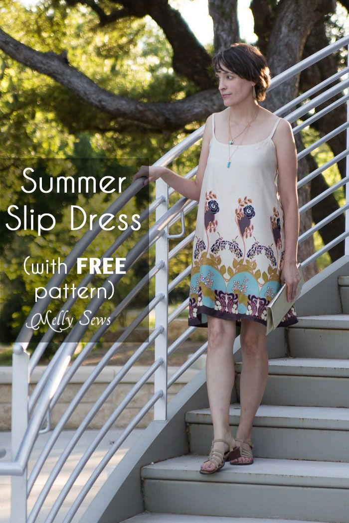 Slip Dress Tutorial and FREE Pattern | Pinterest | Freebooks, Nähen ...