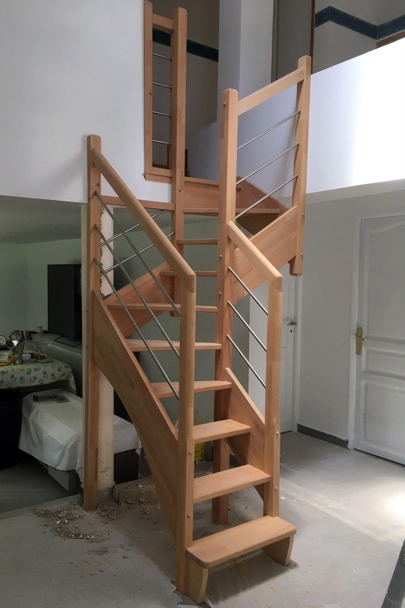 Escalier gain de place en bois contemporain. Escalier moderne sans ...