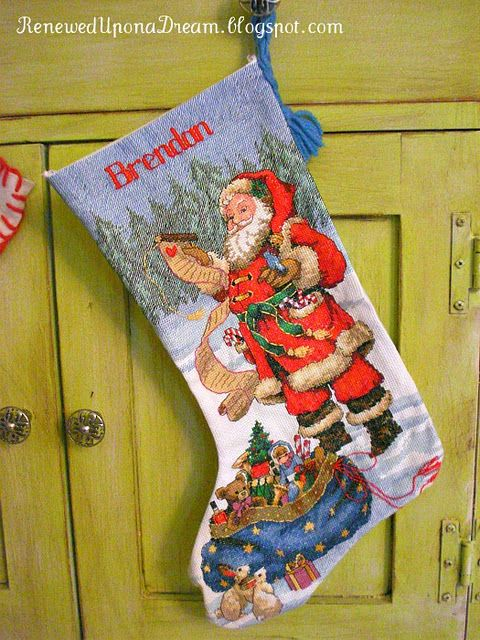 DIY Cross Stitch Christmas Stocking
