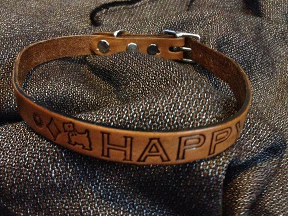 Custom Made Dog Collar Name Number Customize by jrleathercraft, $25.00