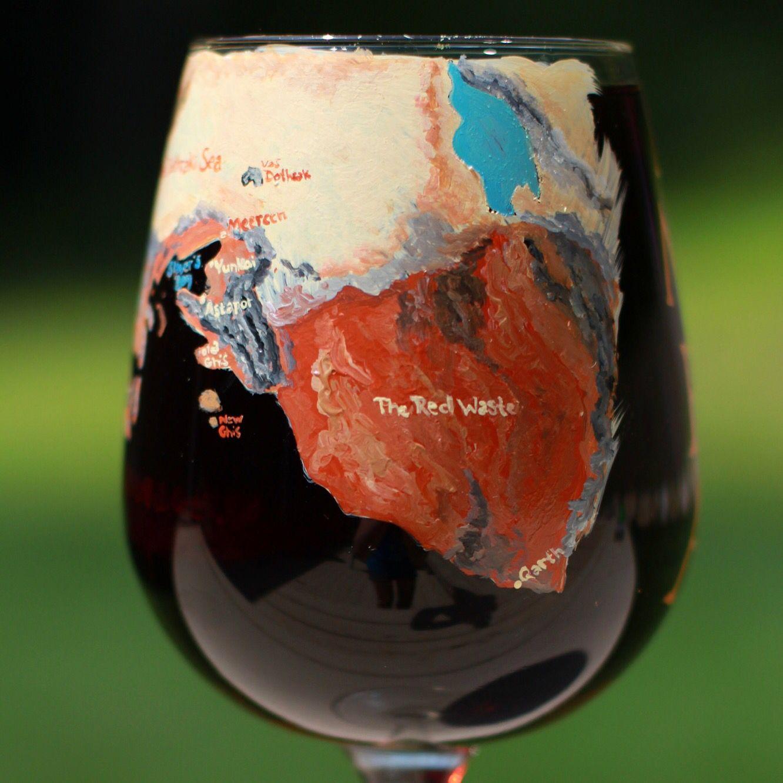 Game Of Thrones Map Wine Glass Map Of Daenerys S Journey Gameofthrones Khaleesi Soiaf Wine Et Game Of Thrones Wine Game Of Thrones Map Game Of Thrones