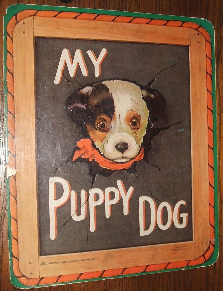 Vintage 1917 My Puppy Dog No. 649 Samuel Gabriel Sons Illustrated A. E. Kennedy