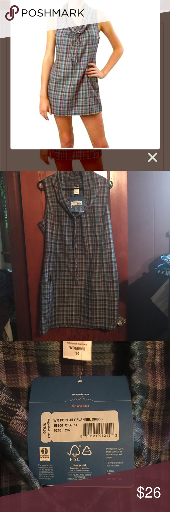6d0e49817 Patagonia Fortuity Flannel dress NWT