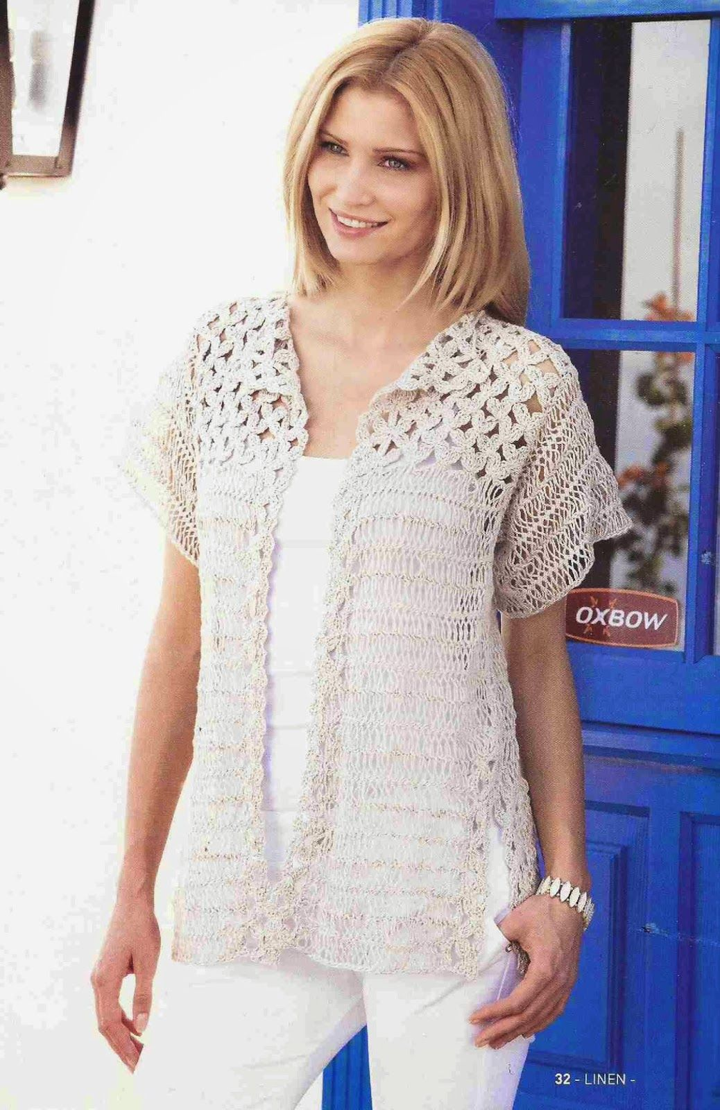 Patrón #145: Blusa Calada a Crochet #ctejidas http://blgs.co/aY5rzr ...
