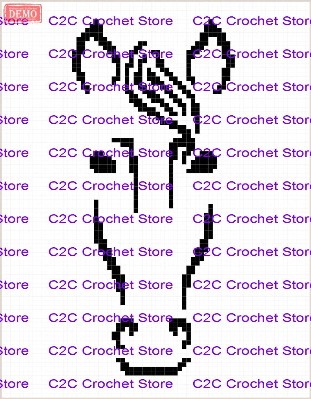 C2C Horse face outline graph pattern