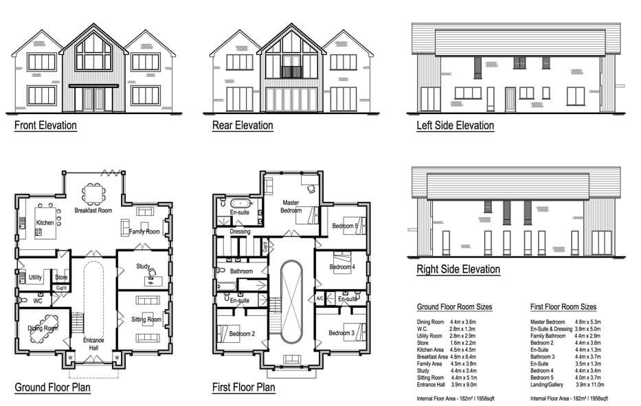 Lintons 5 Bedroom House Design In 2020 House Plans Uk Mansion Floor Plan 5 Bedroom House Plans