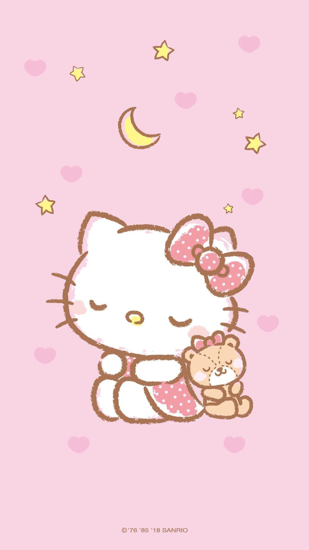 Hello Kitty Aesthetic Background : hello, kitty, aesthetic, background, Hello, Kitty, Drawing,, Iphone, Wallpaper,, Backgrounds