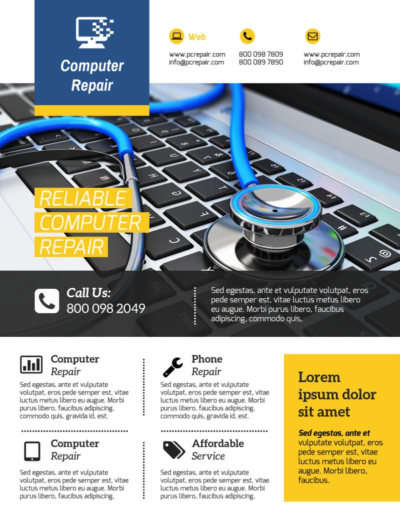 003 Template Ideas Computer Repair Flyer Professional Inside Computer Repair Flyer Template Word Best Profession Computer Repair Word Template Flyer Template
