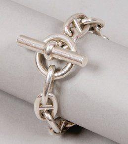 Hermès - Chaîne d'ancre  - argent, fermoir bâtonnet