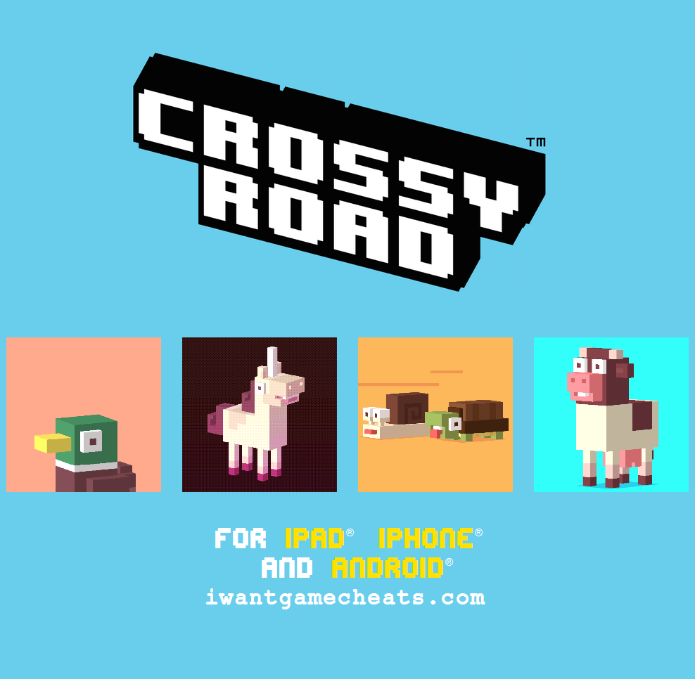 Crossy Road Game Cheats, Discussions, Videos, Trailers, Answers, Hints, Codes, Tips, Hacks, Glitches, Secrets, Walkthroughs and Guides - http://iwantgamecheats.com/universal/game-crossy-road-cheats.html