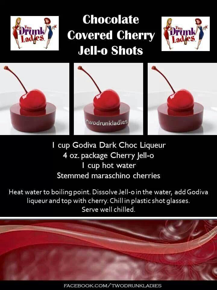 Chocolate Covered Cherry Jello Shots Watering Hole Drinks Jello