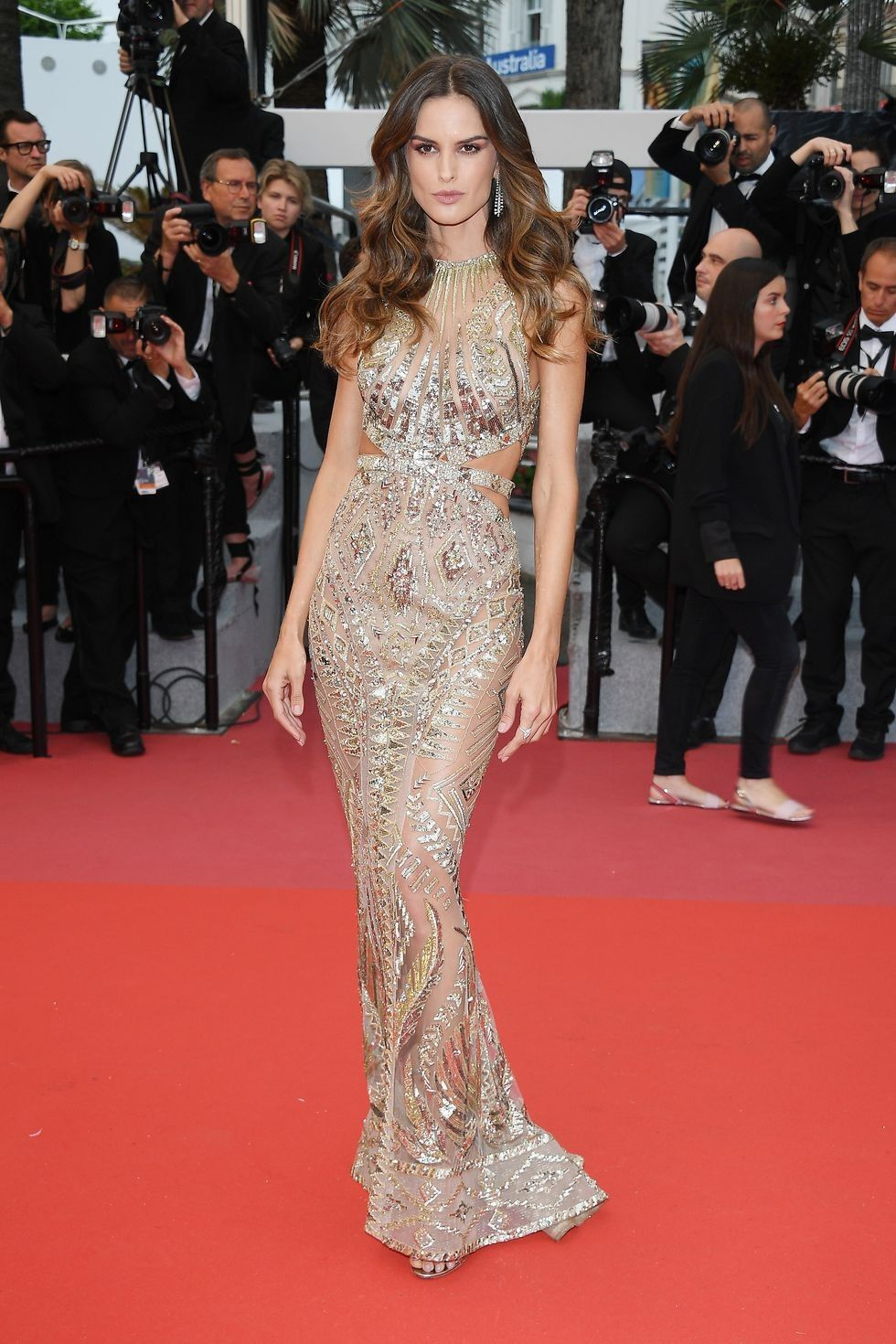 Roter Teppich Cannes Izabel Goulart In Zuhair Murad 2018 Cannes Film Festival