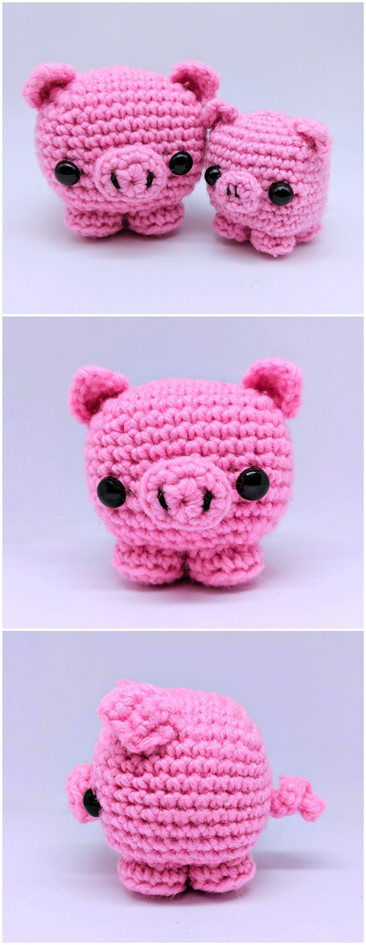Crochet Cute Piggy Pigs Glücksbringer Pinterest Croché Und Tejidos