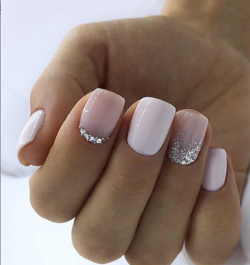 Light Pink Short Square Nails Ideas White Square Nails Short Glitter Nails Design Short Nails Pink Gel Nails Short Square Acrylic Nails Square Acrylic Nails