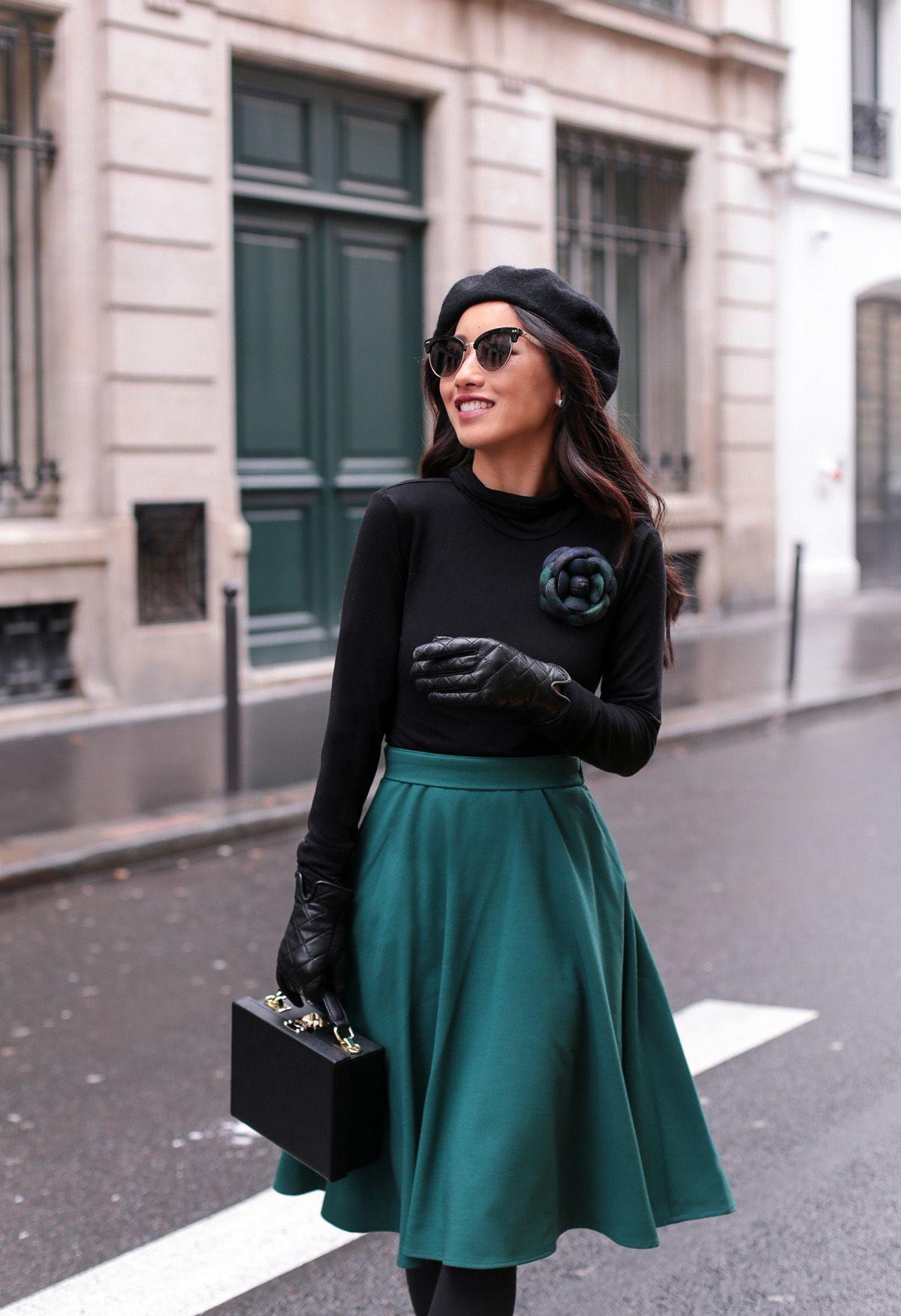 paris fashion cat eye sunglasses + modcloth circle skirt