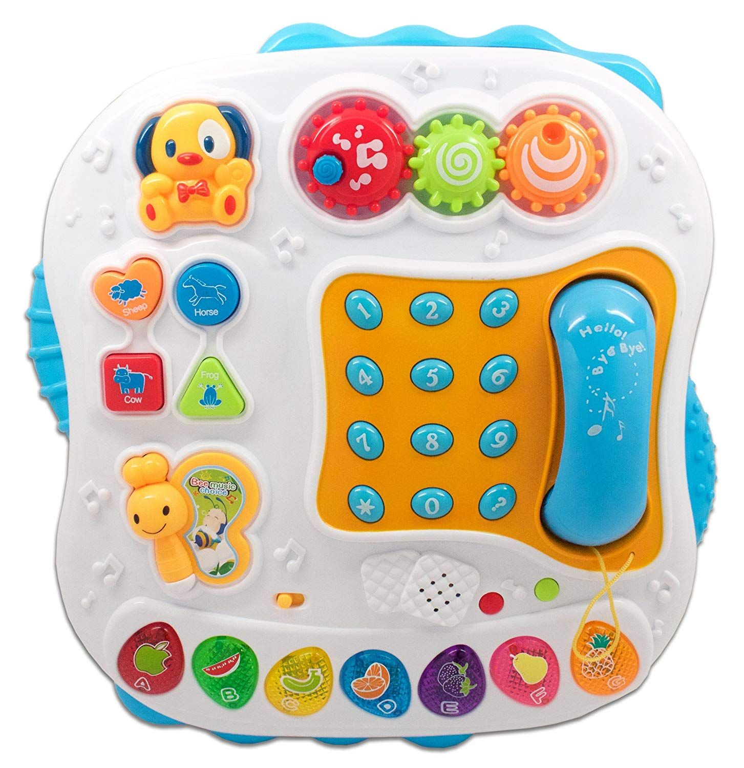 Learn N Play Childrens Work And Play Table With Phone For