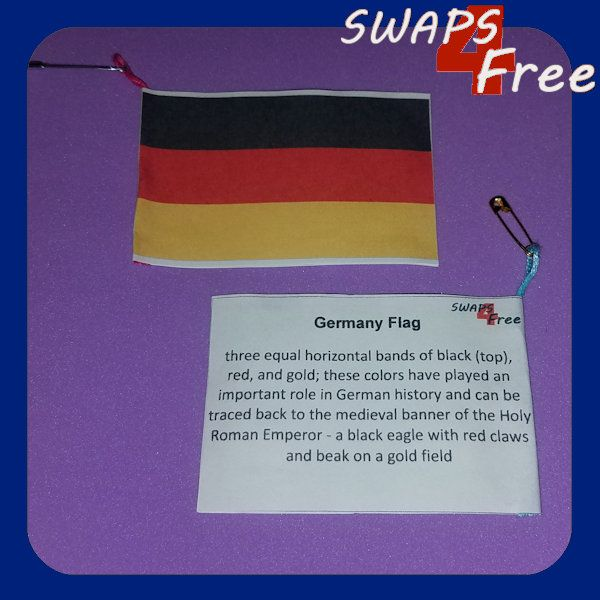 Germany Flag Fact Girl Scout SWAPS for World Thinking Day Free