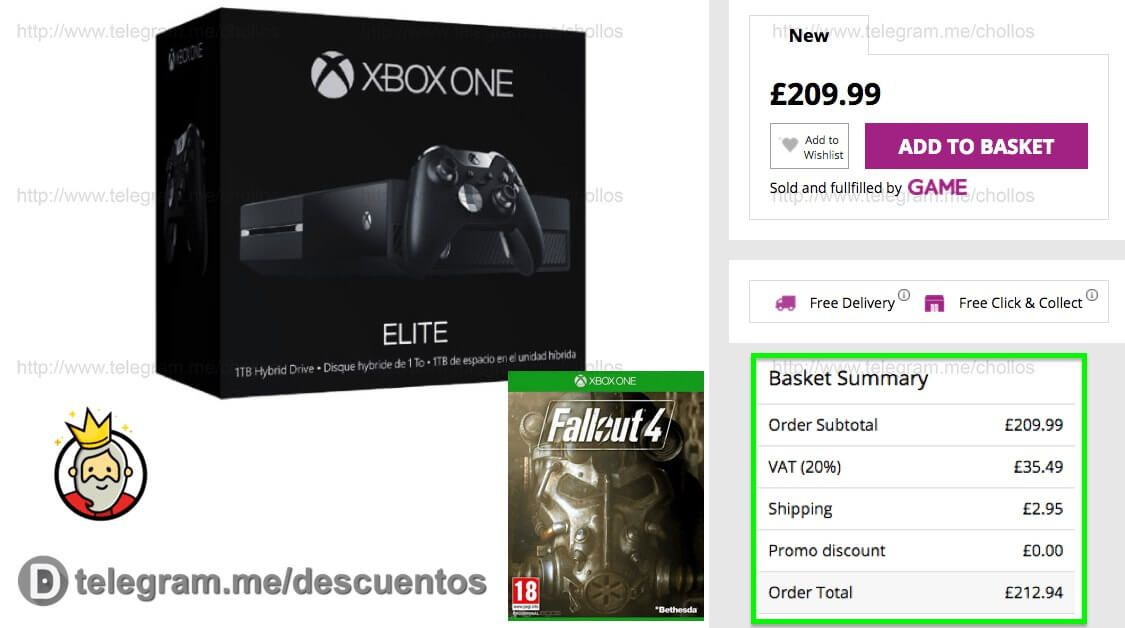 XBOX One 1TB Elite  Fallout 4 a sólo 250 - http://ift.tt/2fCY0eC