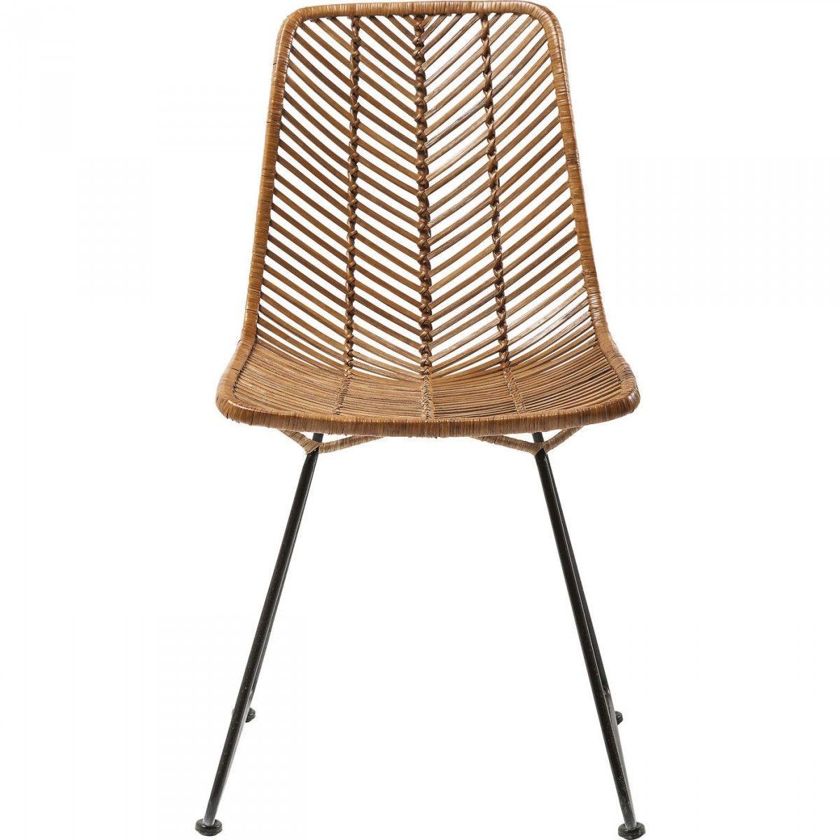 Rattan und metall esszimmer st hle m belideen for Design stuhl geflecht