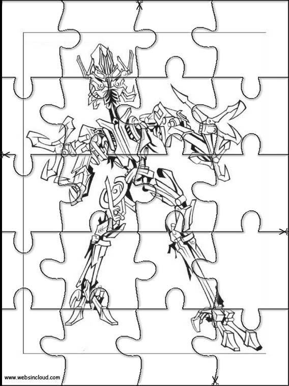 Printable Jigsaw Puzzles To Cut Out For Kids Transformers 8 Coloring Pages