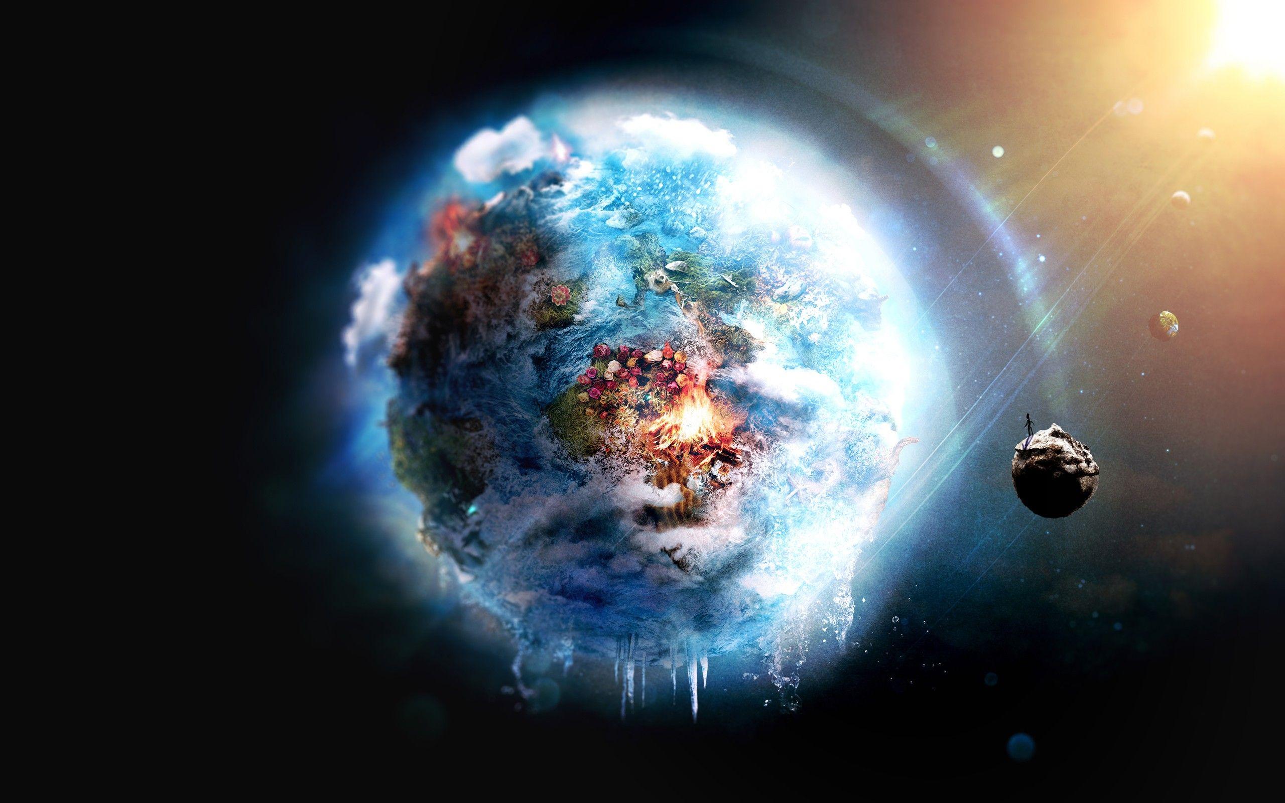 #Earth, #Futuristic, #Digital Art, #Space - Wallpaper No 5333