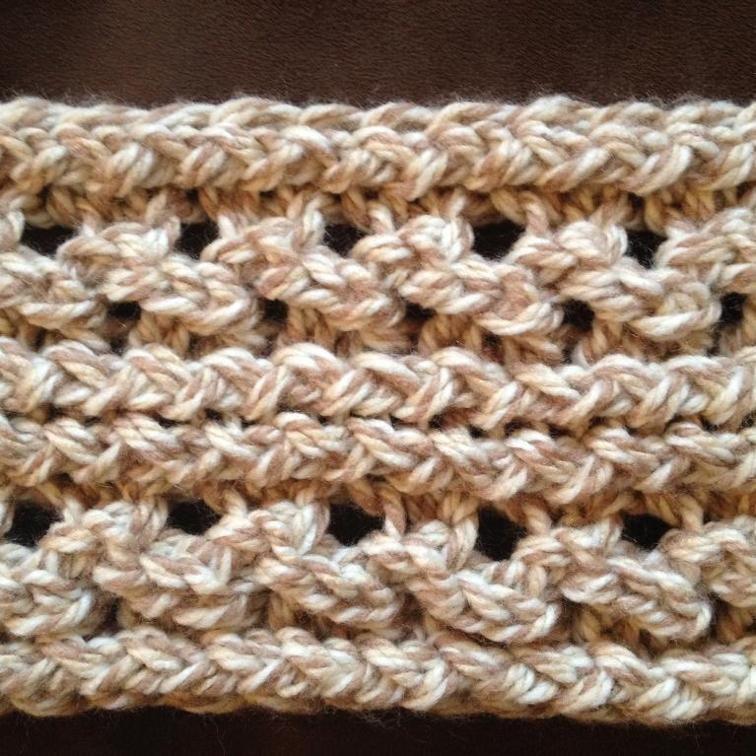 Lace Ribbed Ear Warmer - Loom Knit Patte | Loom knitting, Ear ...