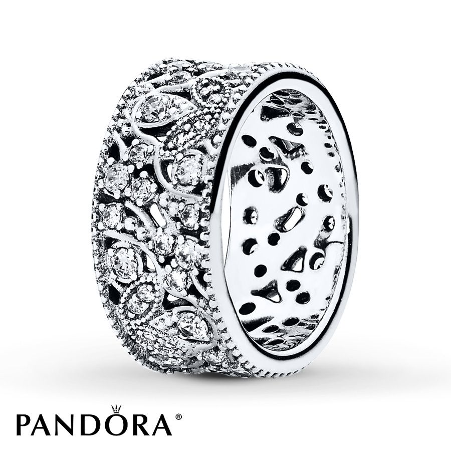PANDORA Ring Shimmering Leaves Sterling Silver Wishes Pinterest