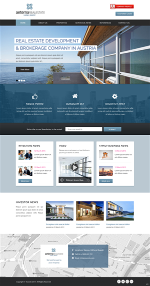 35 Professional Web Designs Real Estate Web Design Project For A Business In Austria Free Business Card Design Site Design Real Estate Development