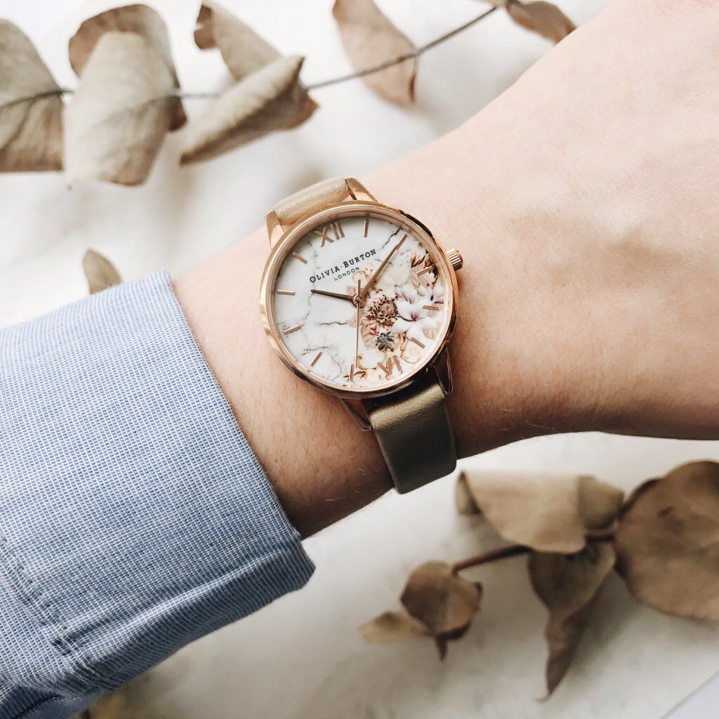 4b830e9c0cb8 Olivia Burton Marble Floral Sand & Rose Gold Watch #oliviaburton #new  #collection #marble #florals #jewellery #jewelry #watch