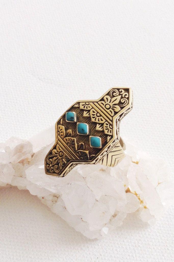 Cleobella Siris Turquoise Ring