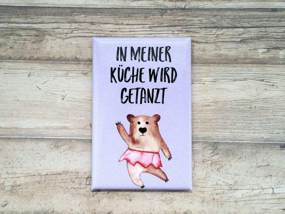 Kühlschrank Magnet, Ballerina Bär, Tanz Bär, Kaffee Spruch, Bären ...