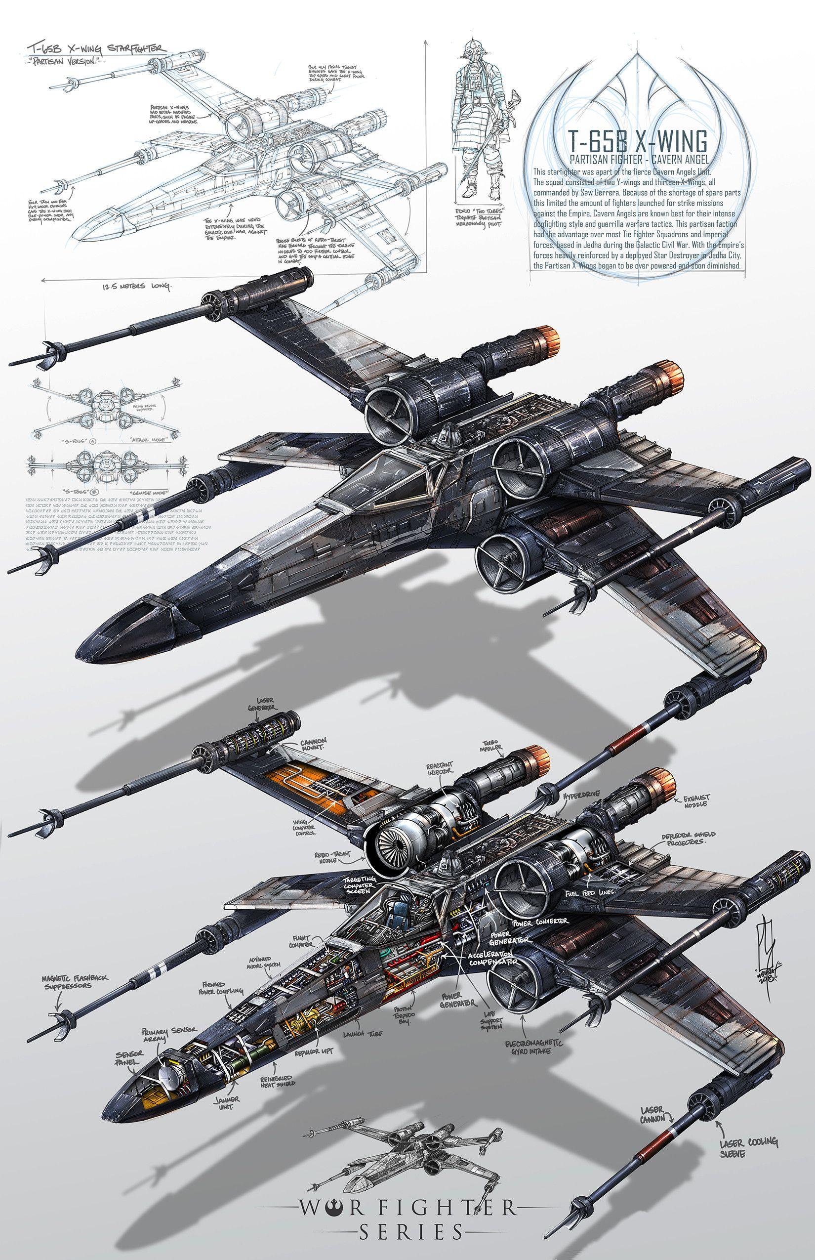 x-wing planos
