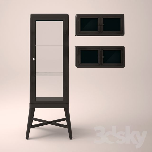 Ikea Wardrobe FABRIKOR showcase and cabinet mounted ROSKUG | 3dsky ...