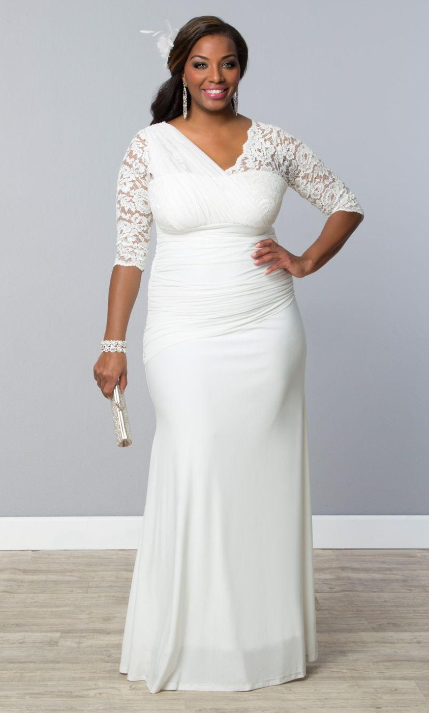 Wedding dresses for plus size brides  Elegant Aisle Wedding Gown  Moda para mujeres  Pinterest  Bridal