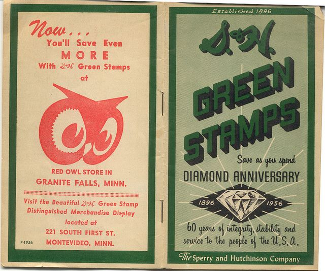 Red Owl S H Green Stamps Book 1956 Red Owl Book Stamp Stamp