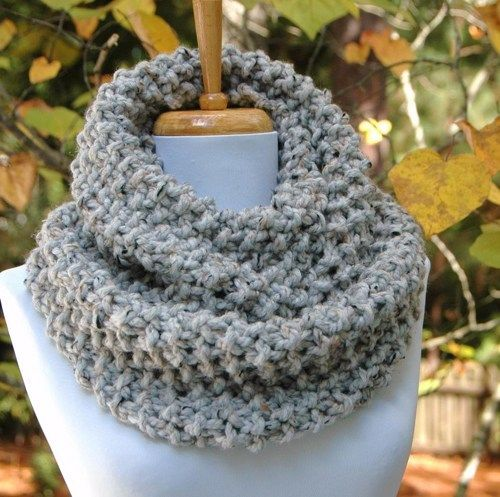 Hand knit infinity scarf Knit in a highly textured popcorn stitch in ...