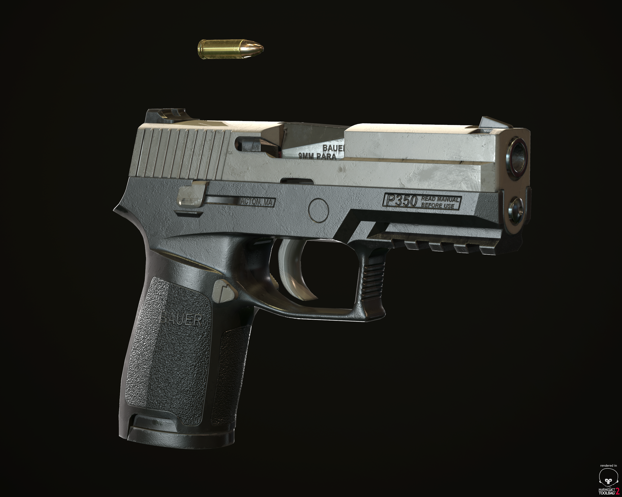 This is the BAUER P350 (SIG P250). Standard issue pistol