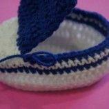 Como Fazer Sapatinho de Crochê para Bebê   9