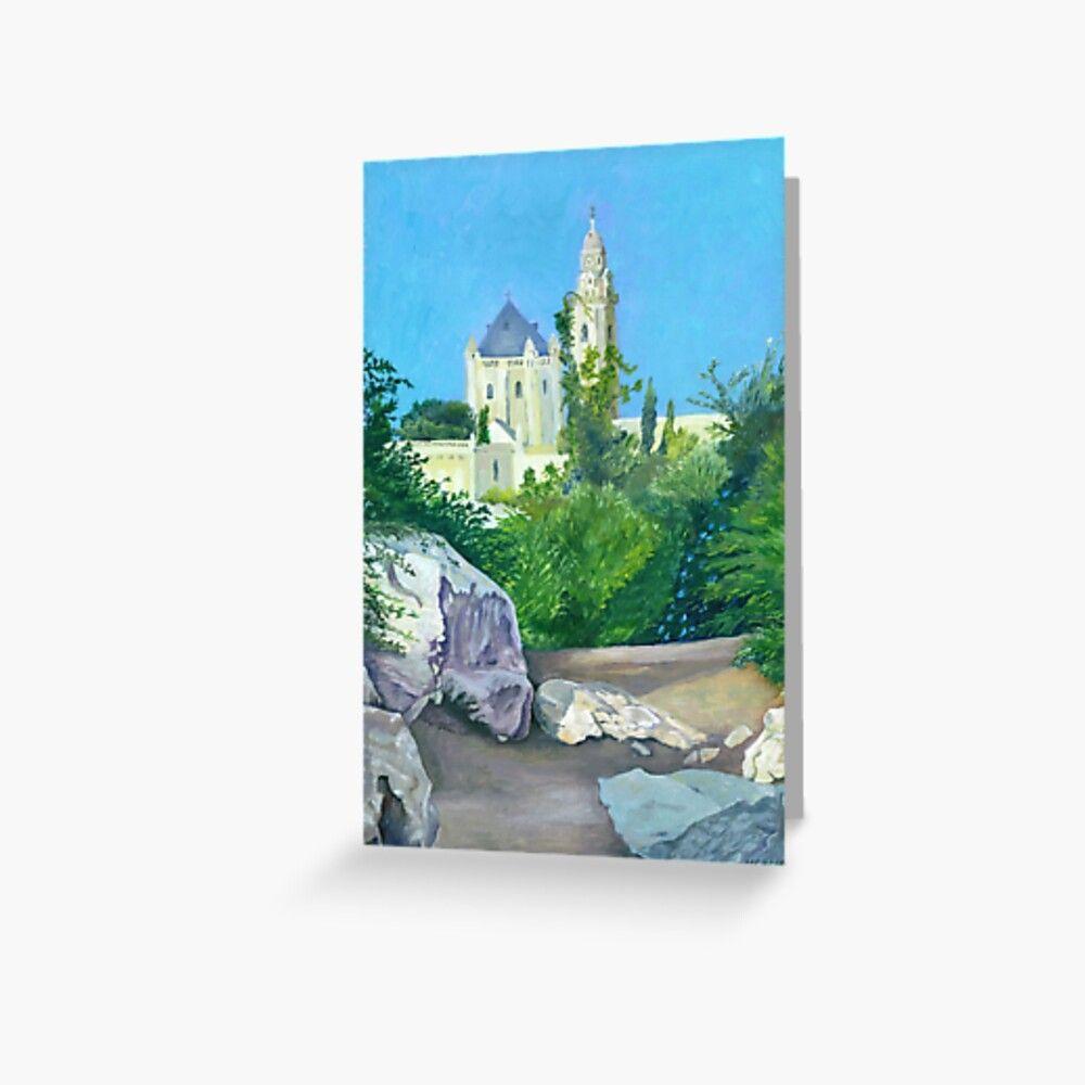 Dormition Abbey Jerusalem Israel Greeting Card by Melvyn Kahan