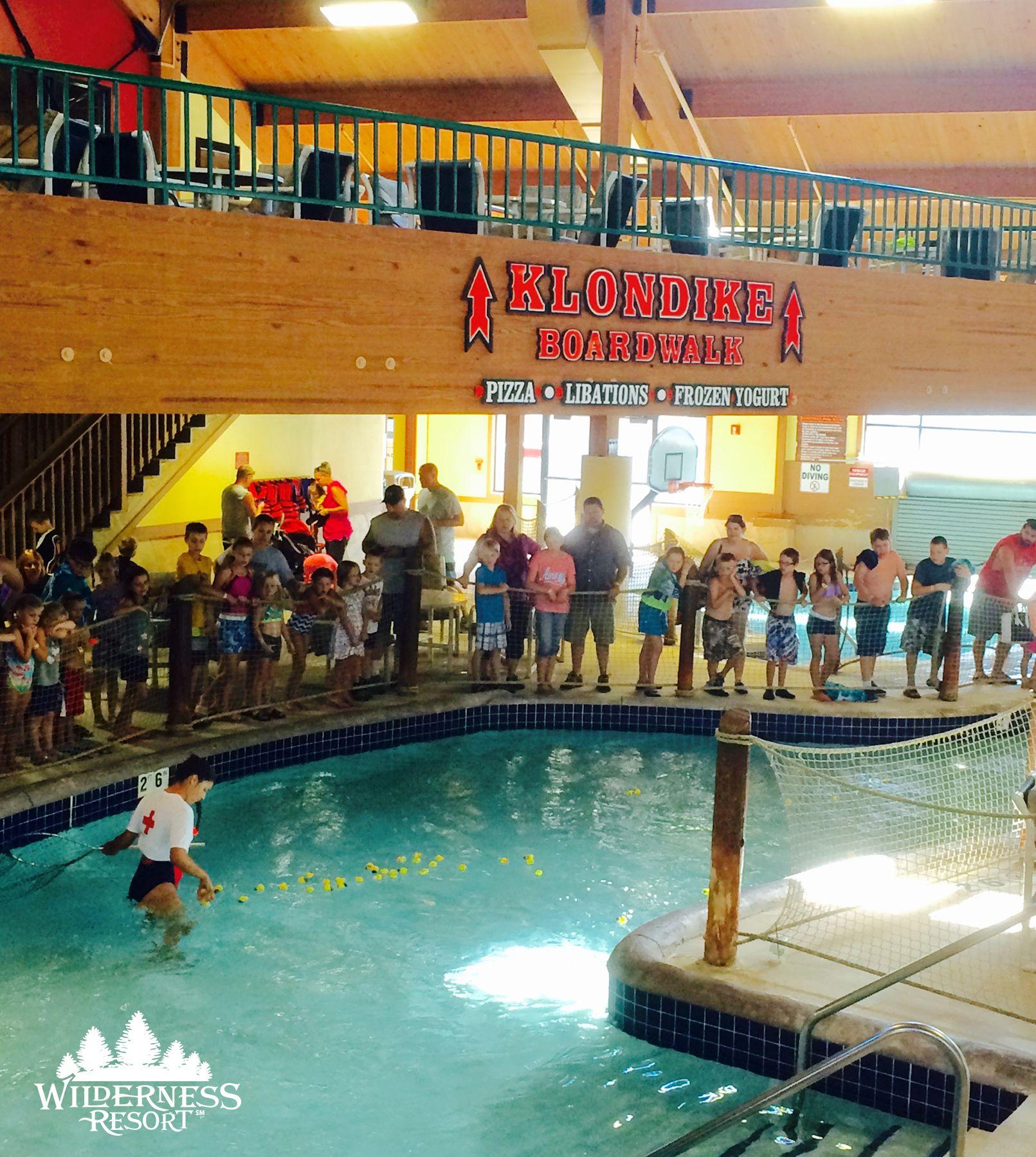 Ken Ducky Derby Duck Races Every Morning In The Klondike Kavern Waterpark Wilderness Resort Resorts In Wisconsin Wilderness Resort Wisconsin Dells