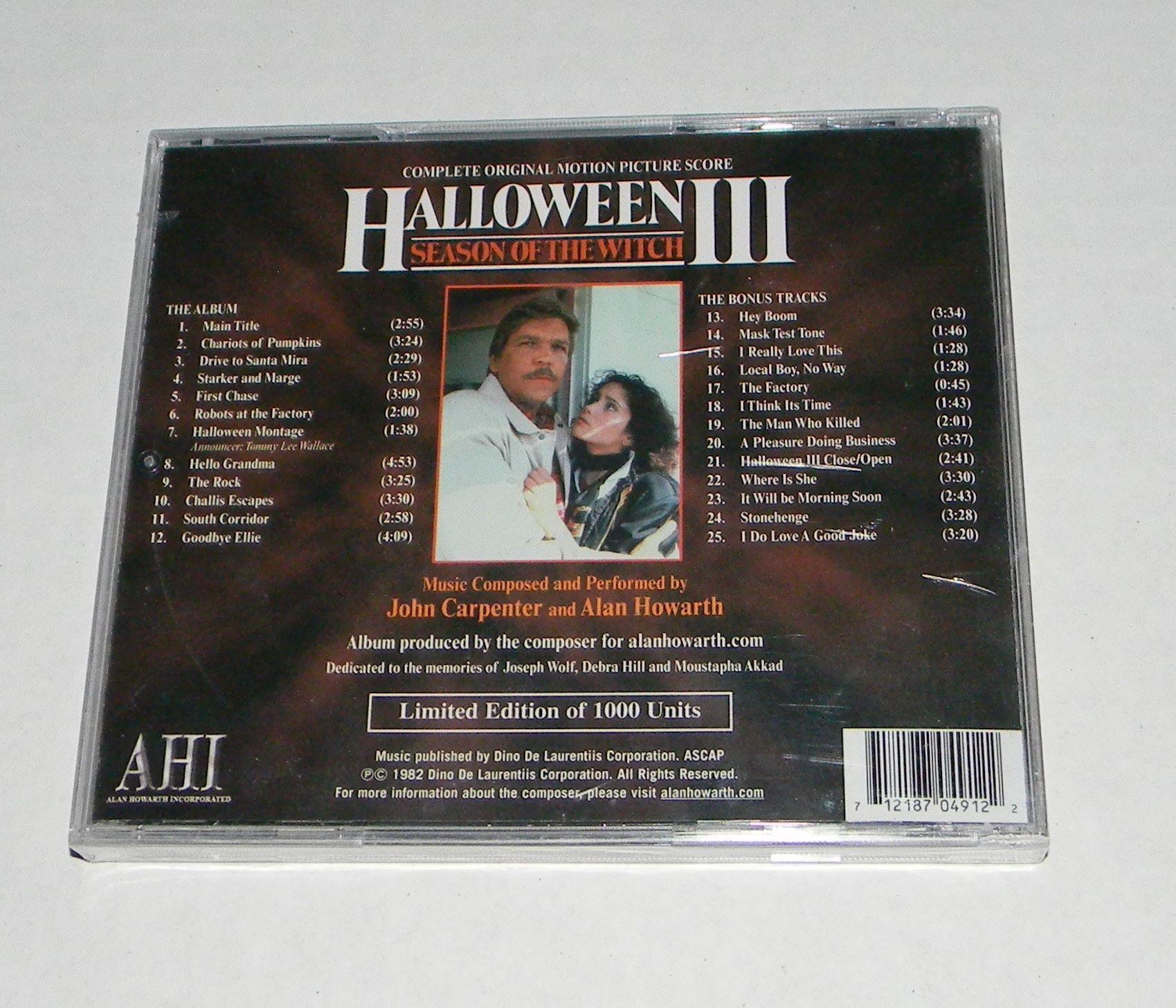 Halloween 3 Soundtrack Back Halloween iii, Season of the