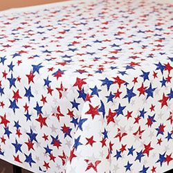 Tableroll Plastic 40in x 100ft Patriotic Red/White/Blue - 1 count