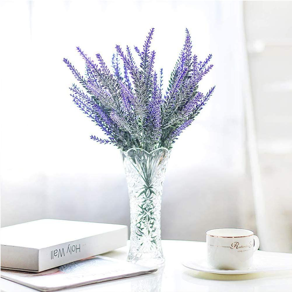 (Purple) Faux is the New Fresh: Artificial lavender wedding arrangement are deceptively natural to the untrained eye. They offer true-to-life petal, look so vibrant and alive, use them as bridal bouquets, ideal for wedding table centerpieces. Charming fake purple lavender flowers bring the lush beauty and elegance of the nature when you put into a vase... #ArtificialFlowers #DecorationBouquets #ArtificialPlants #FakePlants #HomeDecor #ad