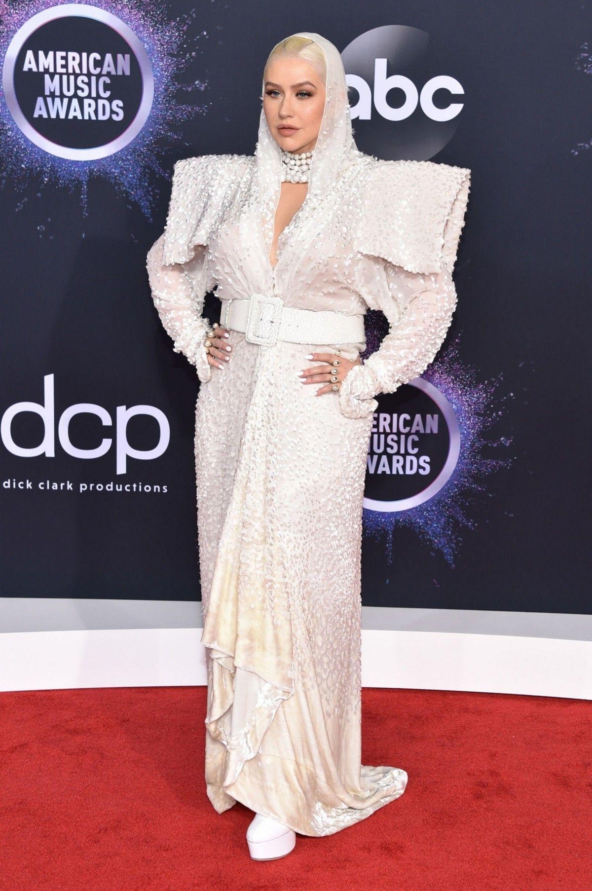 Christina Aguilera attends 2019 American Music Awards at