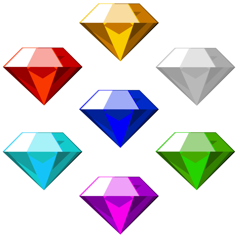 Chaos Emeralds Sonic The Hedgehog Fanon Wiki Fandom Chaos Emeralds Dragon Ball Wallpaper Iphone Sonic And Shadow