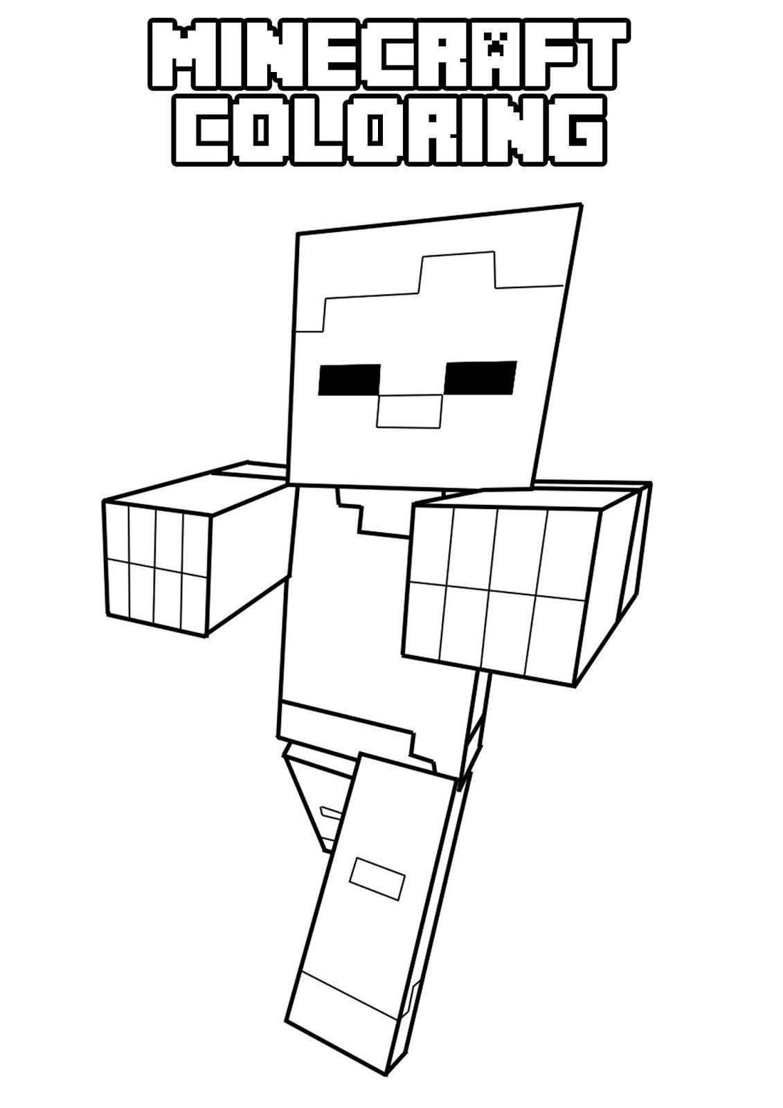 free printable minecraft coloring