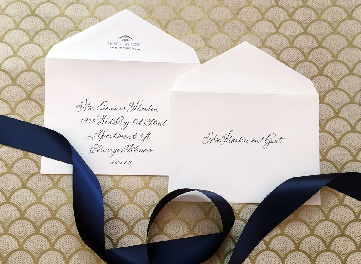 Addressing Pocket Wedding Invitations Without The Inner Envelope