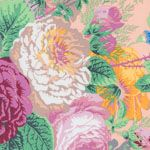 Philip Jacobs Fabric, Gradi Flora Shell Pink (per 1/4 metre)