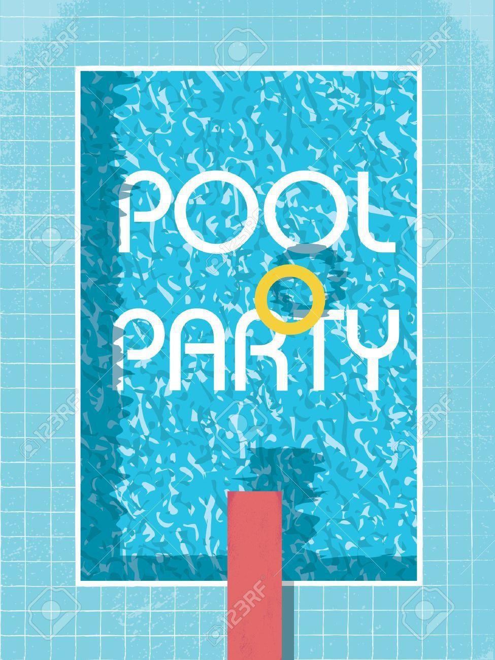 Einladung 6 Geburtstag: Einladung Poolparty Ausdrucken