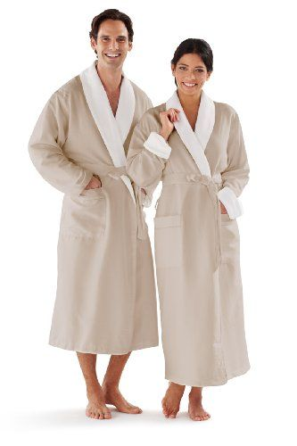 c947378f9b Luxury Spa Robe Microfiber with Cotton Terry Lining ...